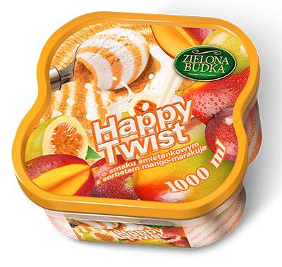"""Мороженое  """"Хэппи Твист"""" сорбет манго-маракуйя"""