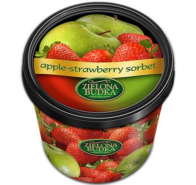 Фруктовый сорбет из яблока и клубники