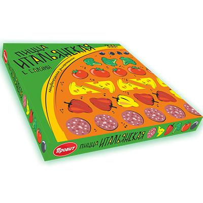 Пицца Итальянская  с салями полувыпеченная